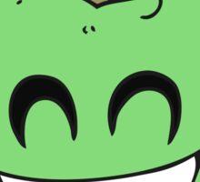 cartoon grinning apple Sticker