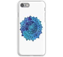 Blue Mandala Flower Design iPhone Case/Skin
