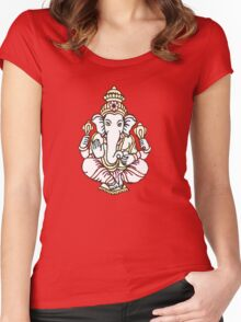 GANESHA Women's Fitted Scoop T-Shirt