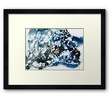 Blue and black abstract Framed Print
