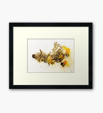 Brown and Yellow abstract Framed Print