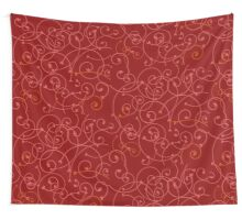 Tresserie Red Wall Tapestry