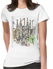 La Sagrada Familia - Watercolour & Pen Womens Fitted T-Shirt