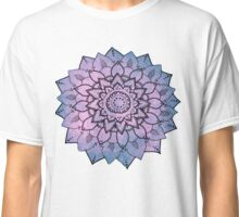 Purple Mandala Flower Design Classic T-Shirt