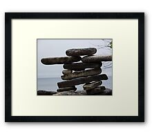 Stoneman halfway to the North pole Framed Print