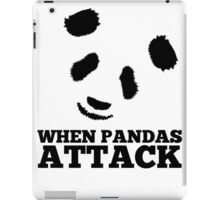 When Pandas Attack Graphic iPad Case/Skin