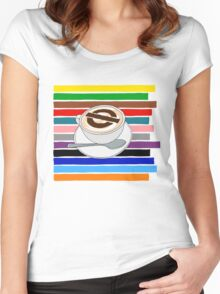 London Underground Cafe Latte Women's Fitted Scoop T-Shirt