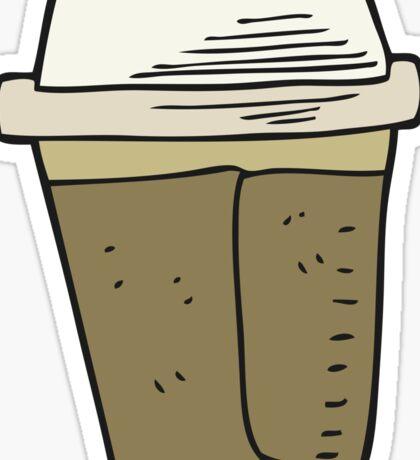 cartoon coffee Sticker