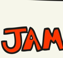 cartoon jam jar Sticker