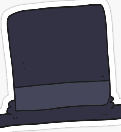 cartoon top hat Sticker