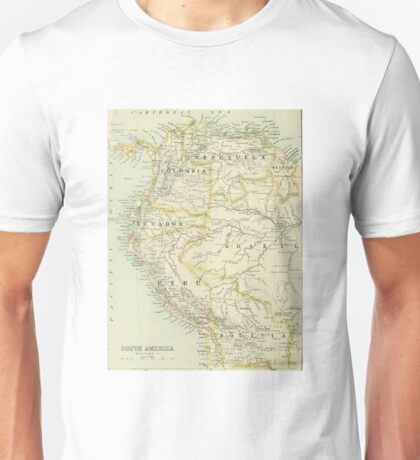 old map of South America Unisex T-Shirt