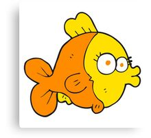funny cartoon fish Canvas Print