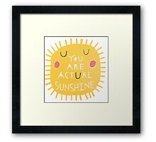 ACTUAL SUNSHINE Framed Print