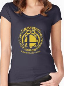Smash Bros Fight Club Women's Fitted Scoop T-Shirt