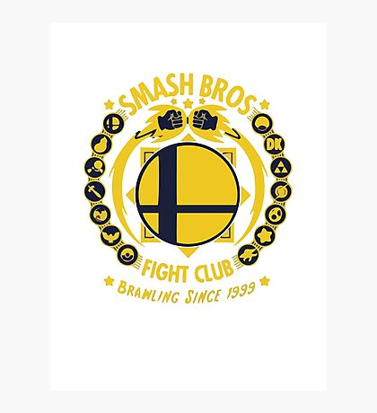 Smash Bros Fight Club Photographic Print