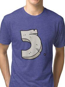 cartoon stone number five Tri-blend T-Shirt