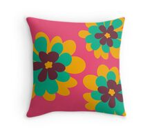 Flowers for Lola [flower heads] Throw Pillow