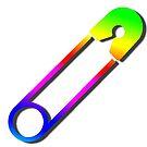 Safety Pin Rainbow by Edward Fielding