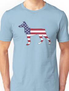 American Flag – Doberman Pinscher Unisex T-Shirt