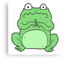 cartoon funny frog Canvas Print