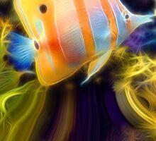 Butterflyfish Flittering in the Flutter Sticker