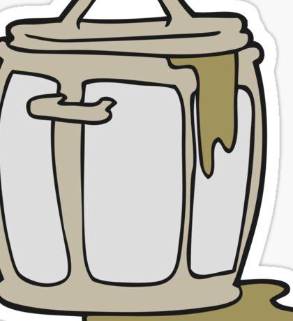 cartoon dirty garbage can Sticker