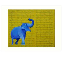 Happy Elephant Singing Art Print