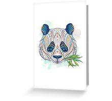Ethnic Highly Detailed Panda Greeting Card