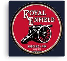 Royal Enfield retro vintage logo Canvas Print