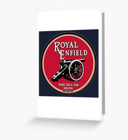 Royal Enfield retro vintage logo Greeting Card