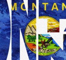 Montana Typographic Map Flag Sticker