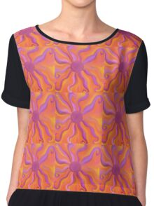 Sunburst Energy Painting  Chiffon Top