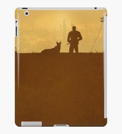 A Lone Man & his Dog - Minimal Silhouette Poster Design iPad Case/Skin