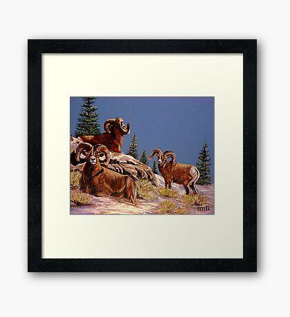 """We Three Kings"" Framed Print"