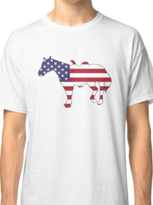 American Flag – Horse Classic T-Shirt
