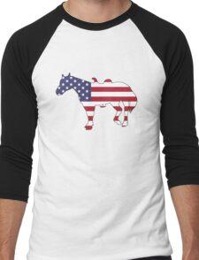 American Flag – Horse Men's Baseball ¾ T-Shirt