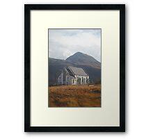 Abandoned Church in Scottish Highlands Framed Print