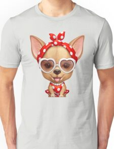 Chihuahua in the Guise of a Retro Beauty Unisex T-Shirt