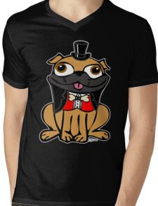 Pug in Tux Mens V-Neck T-Shirt