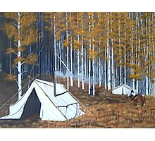 Elk hunt base Camp Photographic Print