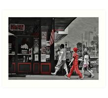 Lunch on the Square Art Print