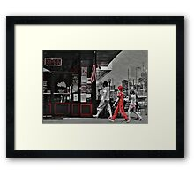 Lunch on the Square Framed Print