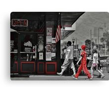 Lunch on the Square Canvas Print