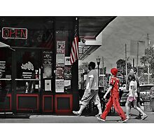 Lunch on the Square Photographic Print