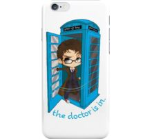 The Doctor Is In The Box iPhone Case/Skin