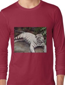 Tiger - Cooling Off - In The - Water Long Sleeve T-Shirt