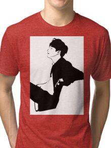 Suga - Black & White Tri-blend T-Shirt