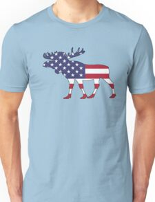 American Flag – Moose Unisex T-Shirt