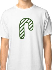 Christmas 2016 - Candycane Design - Green and White Classic T-Shirt