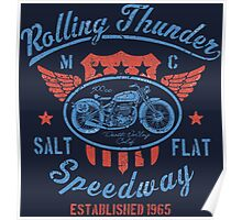 Rolling Thunder Vintage Motorcycle Poster